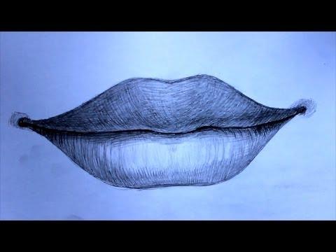 Уроки рисования. Как нарисовать губы человека
