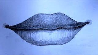 Уроки рисования. Как нарисовать губы человека(Скачайте видео урок