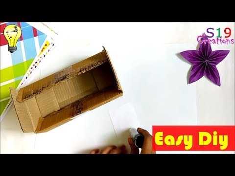 Best out of waste | cardboard box reuse idea | diy arts and crafts | waste material reuse idea