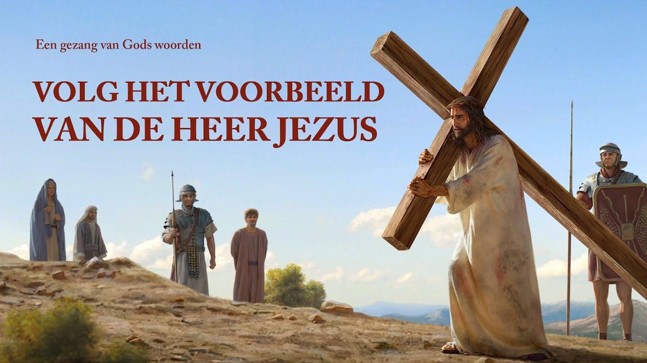 Christelijk lied 'Volg het voorbeeld van de Heer Jezus'