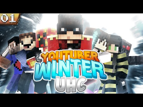 Minecraft YouTuber Winter UHC: Episode 1 - The Pack, The Cube, The Crew, And A Huahwi