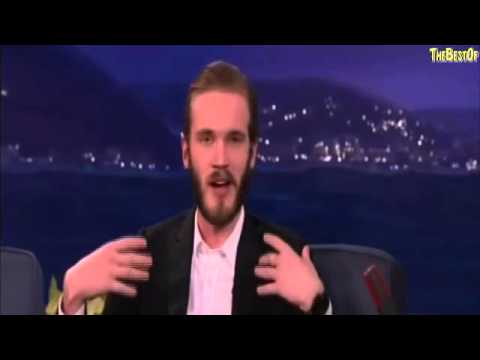 The Best Of PewDiePie (Interview on Conan) FEBRURARY 2016, CHECK IT OUT