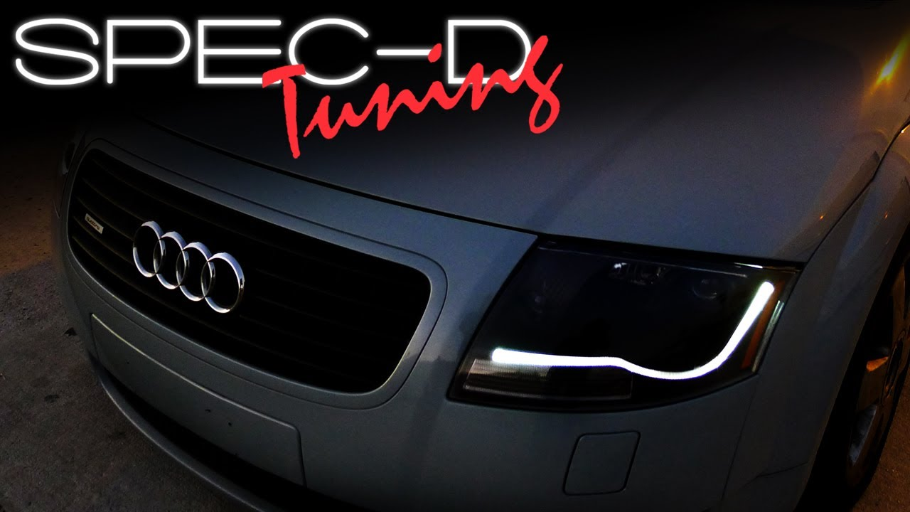 SPECDTUNING INSTALLATION VIDEO: 2000 - 2006 AUDI TT PROJECTOR HEADLIGHTS