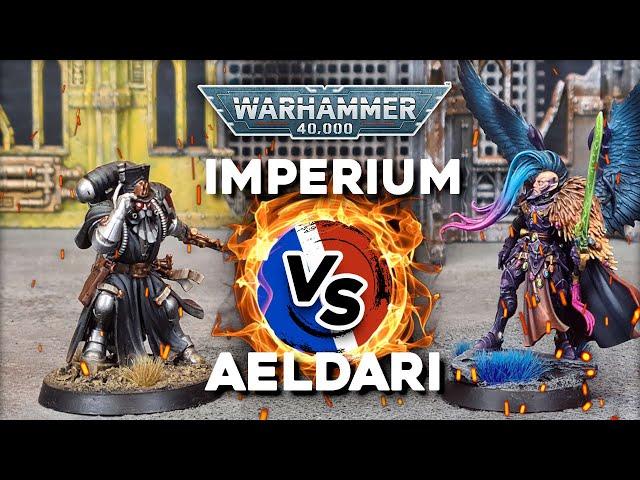 RAPPORT DE BATAILLE WARHAMMER 40.000 - Imperium VS Aeldari - 2000pts