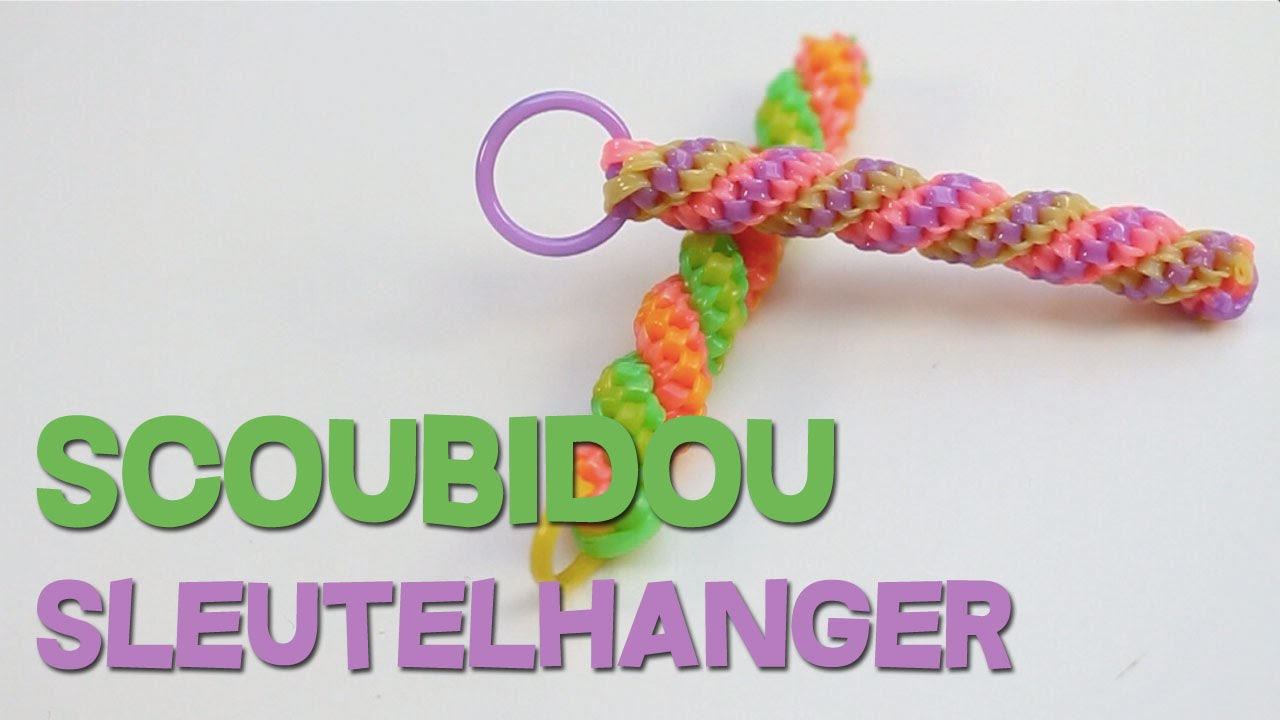 Favoriete Scoubidou sleutelhanger - YouTube @ZL21