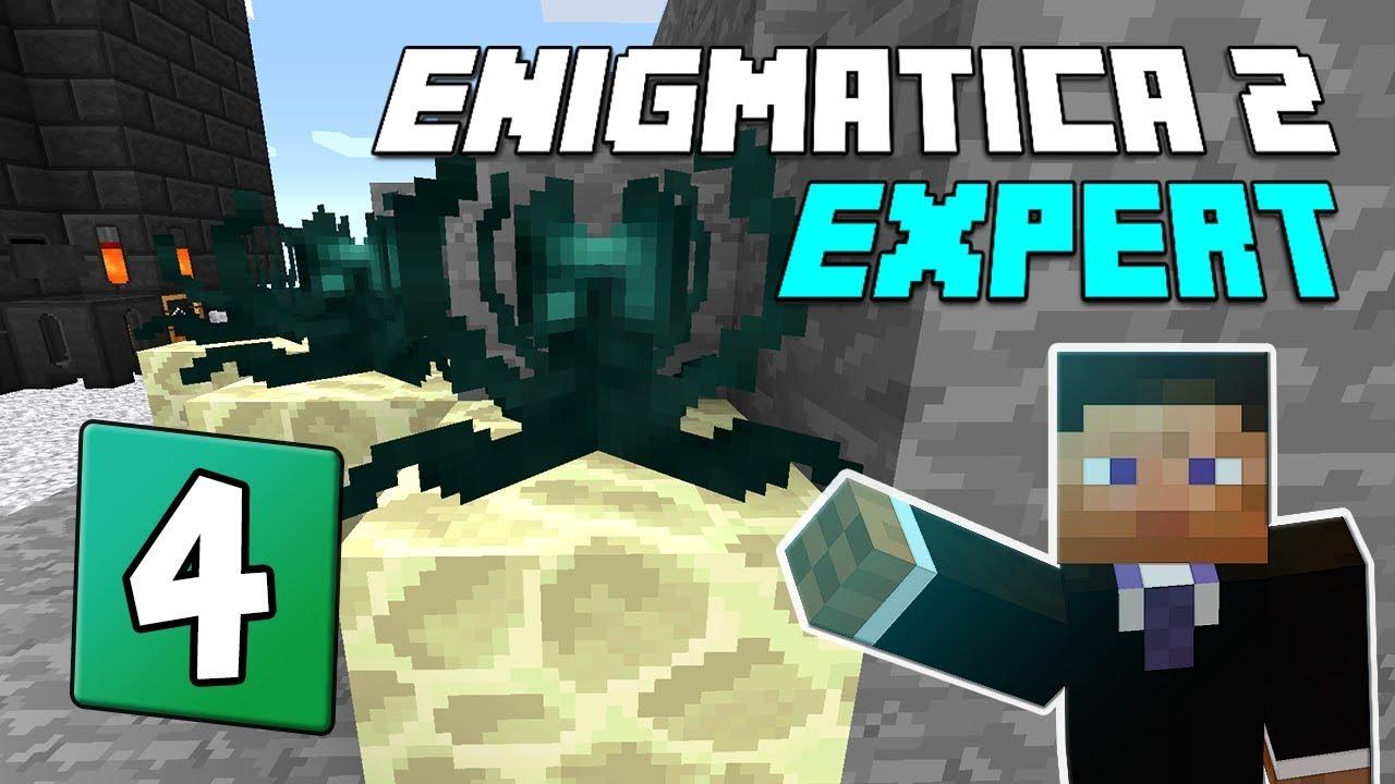 Enigmatica 2: Expert Mode - EP 4 | Ender pearls & Blast furnace