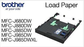 03.How to load paper into the Brother MFC-J880DW