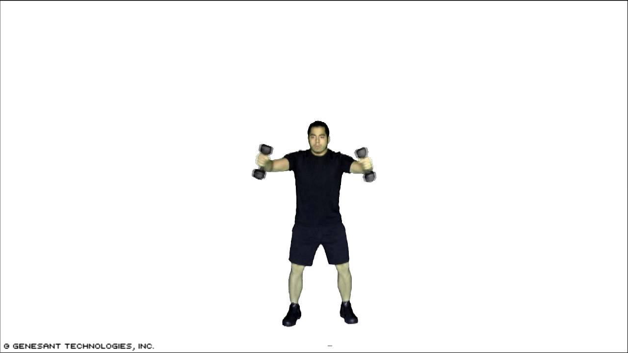 Standing dumbbell chest exercises