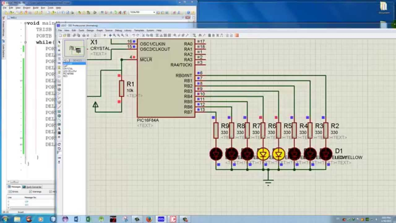 Khmer Learn Microcontroller 8 Flashing Led With Shift Left Pin By Edgefx Kits On Electronic Circuits Pinterest Right Part3