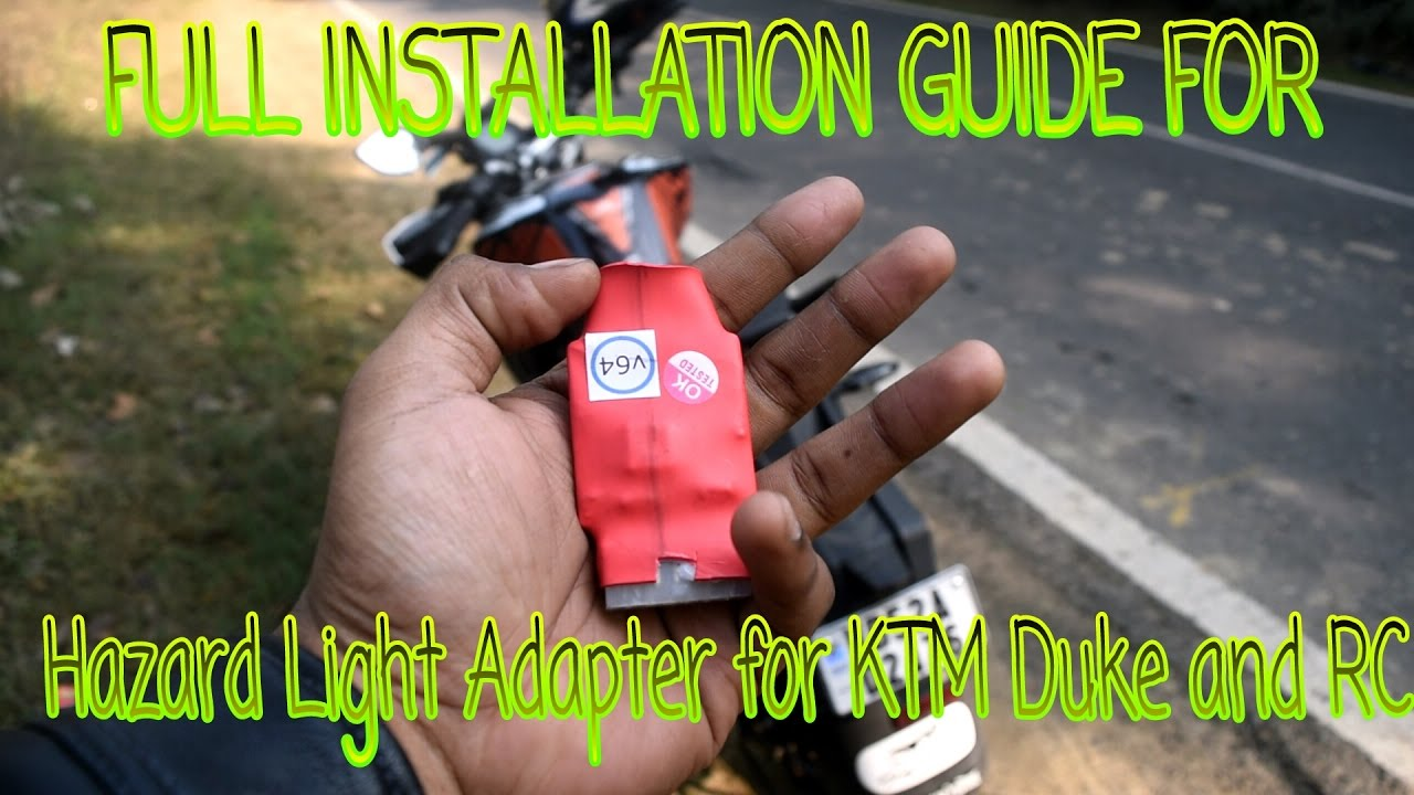 Installing Pnp Hazard Light For Ktm Duke        Rc  200        390