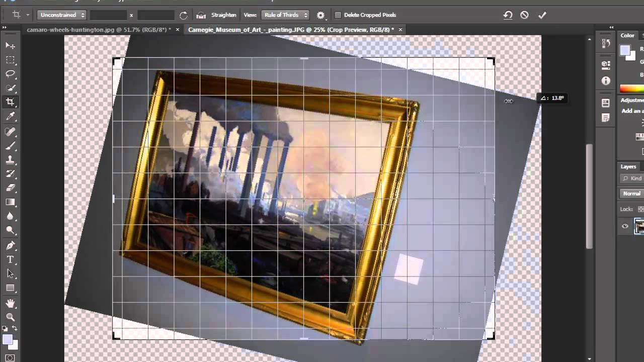 Photoshop cs6 tutorial crop tools youtube baditri Gallery