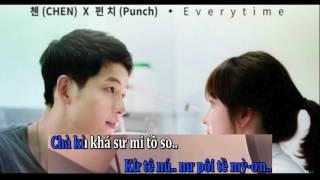 Karaoke Phiên Âm Việt Everytime - Chen ft Punch OST Hậu Duệ Mặt Trời
