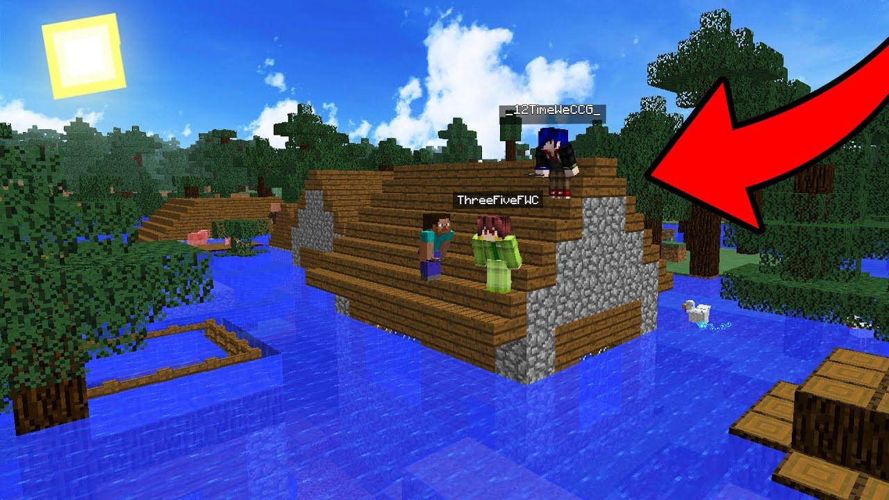 จะเป็นยังไง!? ถ้าโลกมายคราฟโดนน้ำท่วม จนเต็มไปด้วยน้ำ! - Minecraft น้ำท่วมโลก