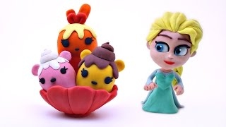 How Elsa Makes Play-Doh Num Noms ----- Disney Frozen Stop Motion Animation