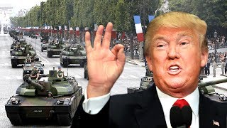 FULL: President Donald Trump Bastille Day Military Parade Celebration in Paris France, Macron 2017