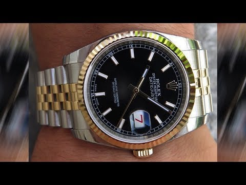 A brand new Rolex Datejust 116233 Black dial 36 mm steel ...Rolex Datejust 36mm On Wrist