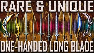 One-Handed Long Blades - Rare & Unique - Morrowind (Includes DLCs)