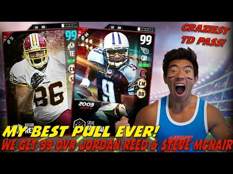 MY BEST PULL & TD PASS EVER! 99 OVR MCNAIR & REED! MADDEN 17 ULTIMATE TEAM