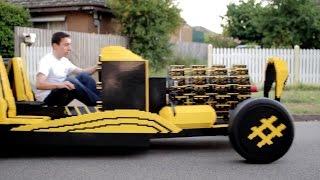 Oru varomas automobilis iš LEGO