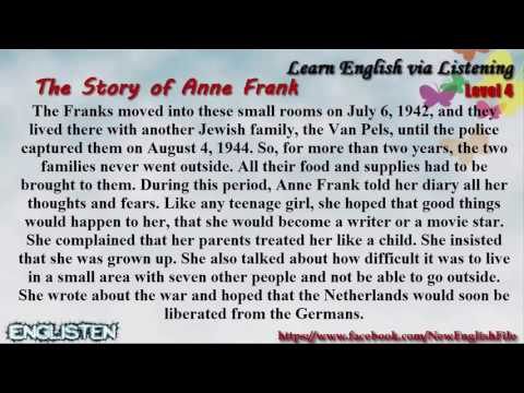 Unit 77 The Story of Anne Frank   Learn English via Listening Level 4