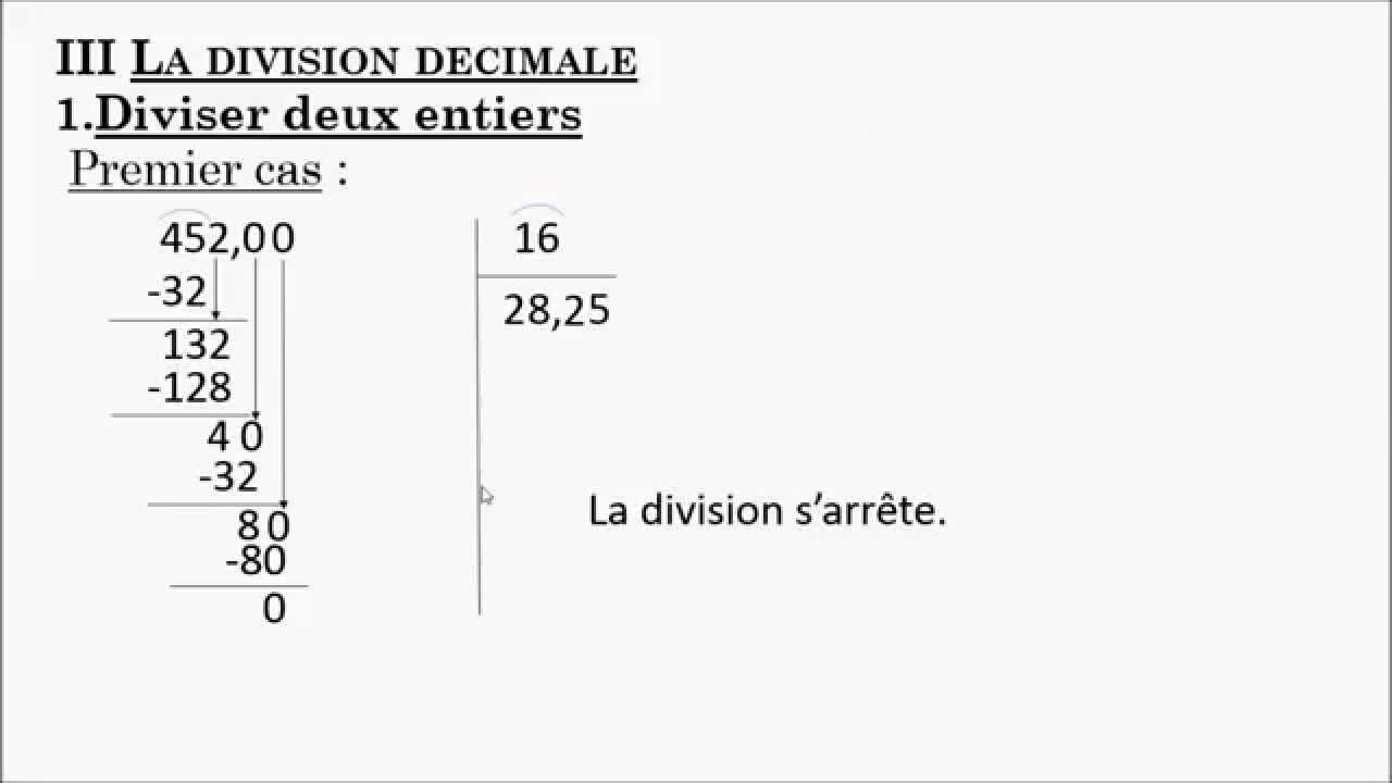 Niveau 6ème : C4 - C - division décimale - YouTube