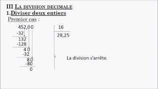 Niveau 6ème : D3 - division décimale