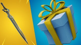 Fortnite-NEW LEGENDARY SWORD!! THE GIFT SYSTEM WILL BE BACK!?! NEW SKINS!! Squads