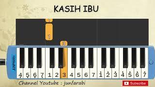 not pianika kasih ibu - tutorial belajar pianika lagu anak - not angka kasih ibu