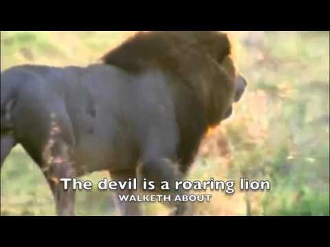 The devil is a roaring lion -  1 peter 5 8 bible memory song