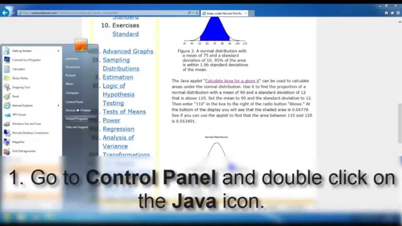 Standard Deviation Mqm100_multiplechoice_chapter10 Statistical  Significance How To Calculate Solving The Java Application Blocked By  Security Settings