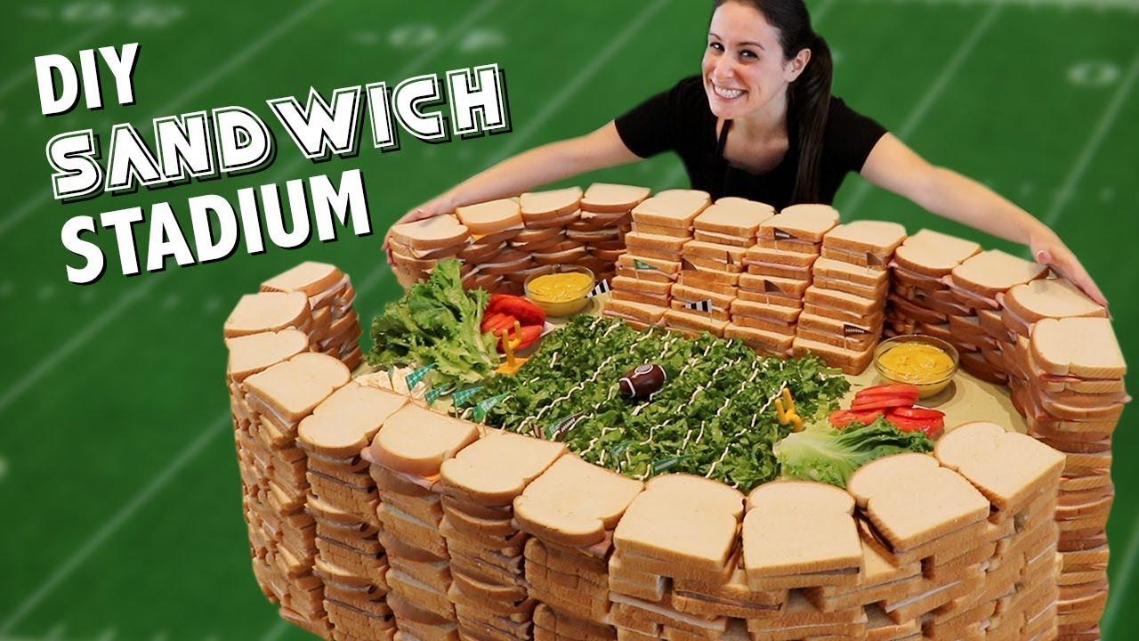 DIY 7 INGREDIENT SANDWICH STADIUM 🥪🏟️