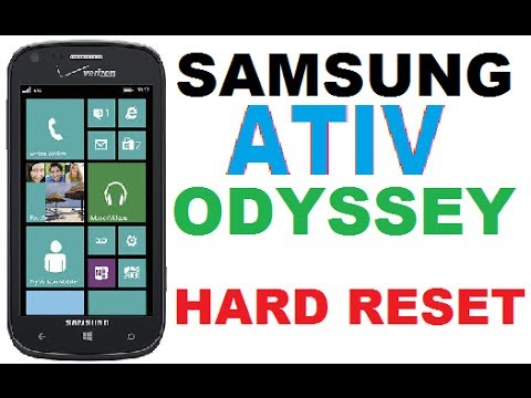 HOW TO HARD RESET WIPE DATA ON SAMSUNG ATIV ODYSSEY - FACTORY RESET