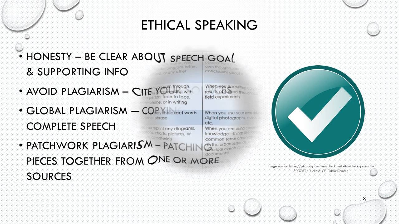 what is ethics in public speaking