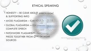 Chapter 3 - Ethics in Public Speaking