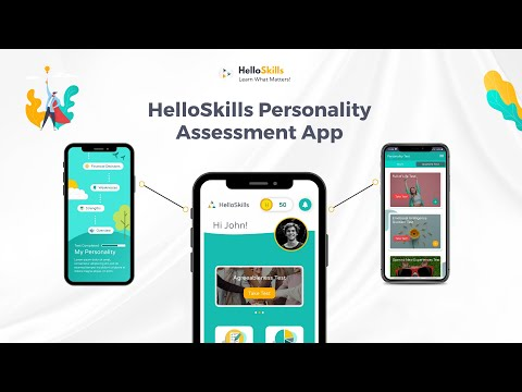HelloSkills Personality Assessment App | Product Launch Video