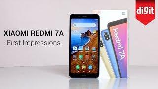 Xiaomi Redmi 7A First Impressions