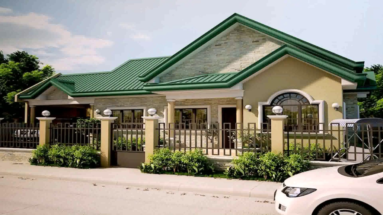 Bungalow style house plans in the philippines youtube for House design bungalow type