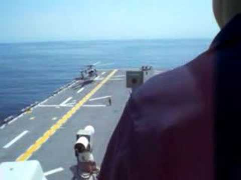 SH-60 Seahawk landing