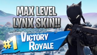 Max Level Lynx Skin!! 12 Elims!! - Fortnite: Battle Royale Gameplay