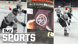 Justin Bieber Shoots, Scores At Celeb Hockey Game | TMZ Sports