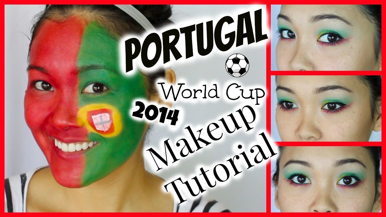 Portugal World Cup 2014 Makeup Tutorial