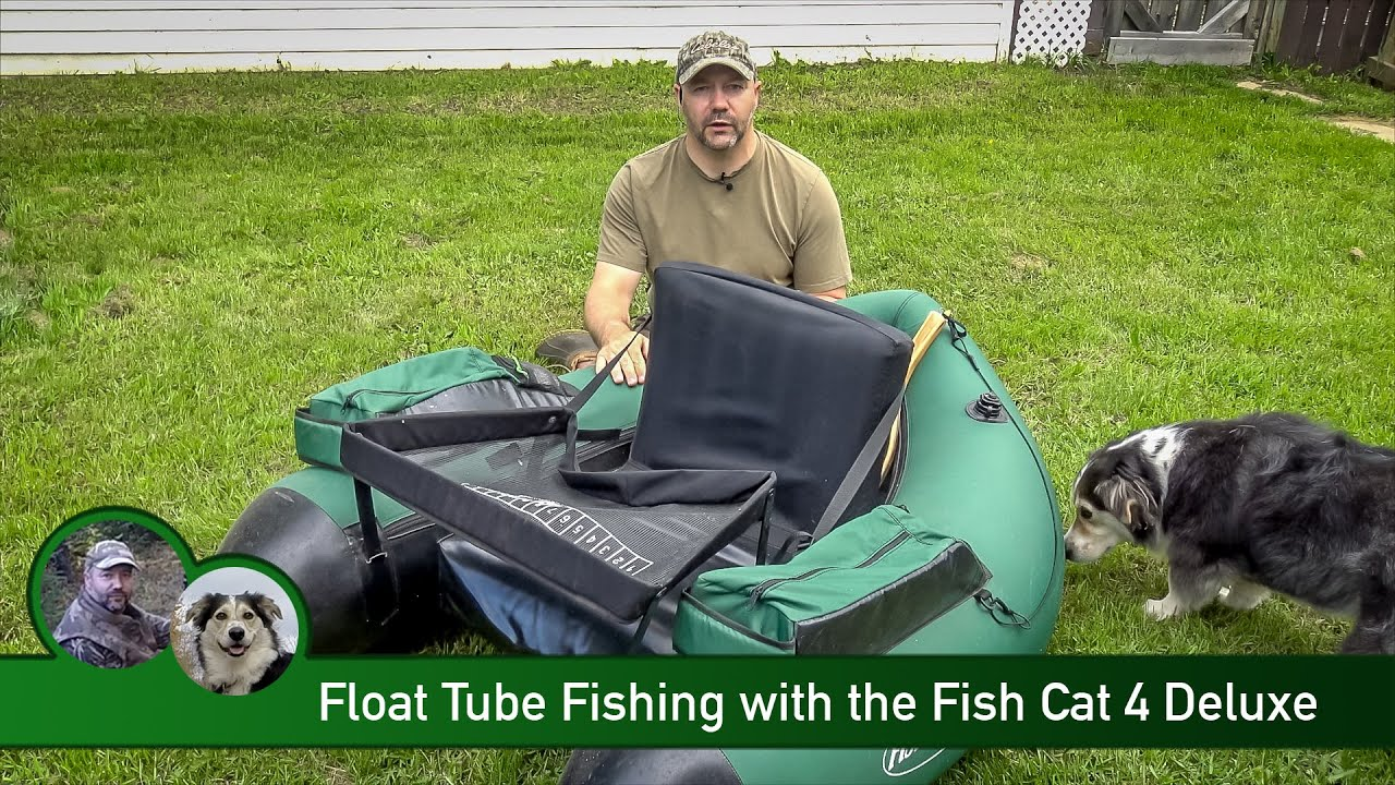 Float tube fishing with the fish cat 4 deluxe youtube for Fish cat 4