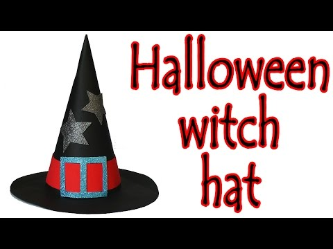 Halloween crafts | How to make a  Witch hat - Ana | DIY Crafts