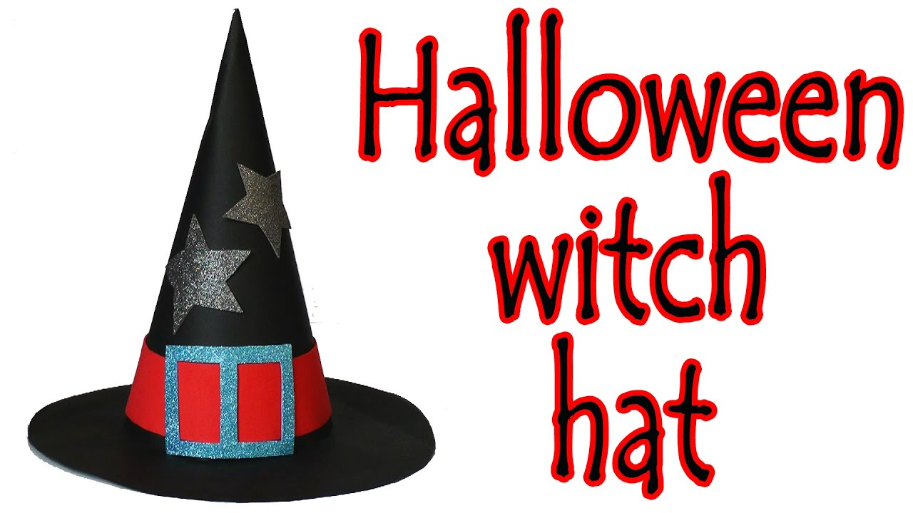 Halloween Crafts How To Make A Witch Hat Ana Diy Crafts Youtube