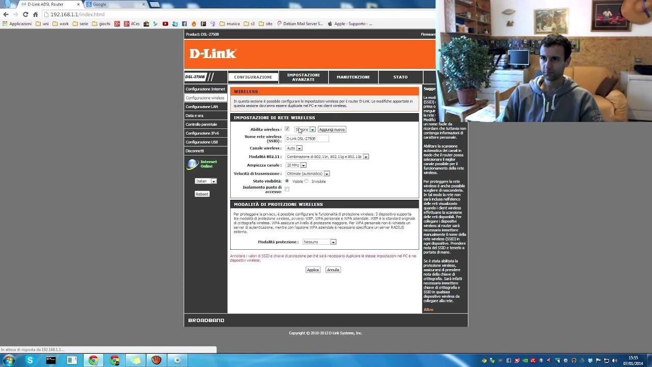 Manual modem dsl 2750b setup