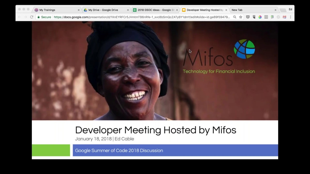 Developer Meeting Hosted by Mifos - January 18, 2018