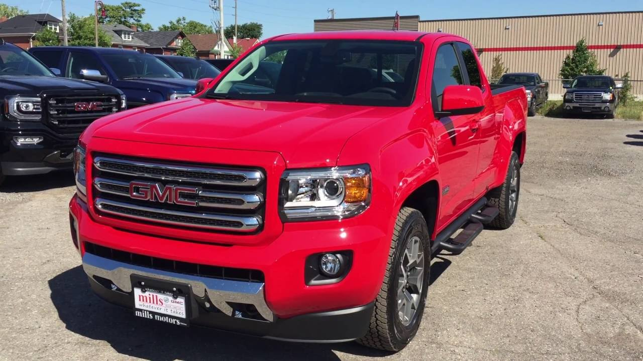 2016 gmc canyon sle all terrain 4wd ext cab red oshawa on. Black Bedroom Furniture Sets. Home Design Ideas