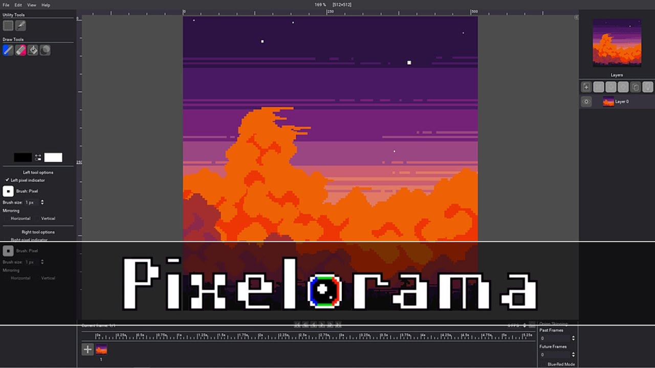 Pixelorama Great Free Pixel Art Animation Tool With A Twist