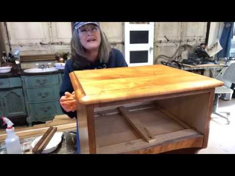 How To Strip Old Varnish Refinishing Wood Top Table Part 1