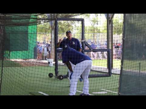YASIEL PUIG and Turner Ward Work in the Batting Cages | Spring Training 2017